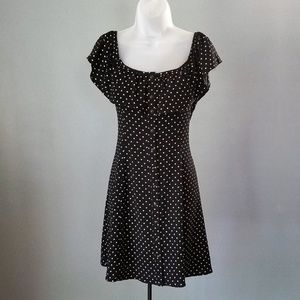 Gypsies & Moondust Polka Dot Button Up Dress M